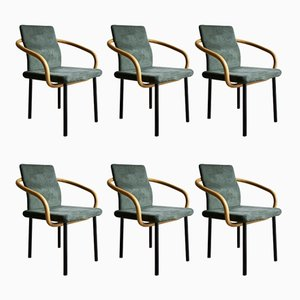 Chaises Mandaring par Ettore Sottsass pour Knoll Inc, 1980s, Set de 6
