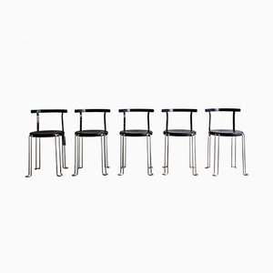 B4 Chairs by Börge Lindau & Bo Lindekrantz for Bla Station, 1980s, Set of 5