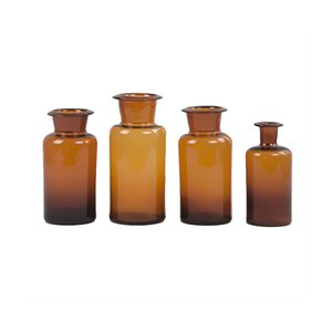 Vintage Pharmacy Jars, 1950s, Set of 4