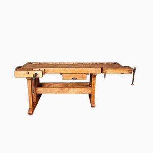 Vintage Industrial Workbench Set from Rowac