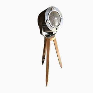 Dreibeiniger Scheinwerfer aus Holz, 1950er