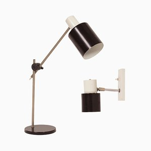 Tischlampe & Wandlampe von Hala, 1960er, 2er Set