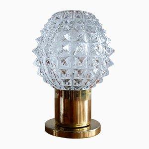 Lámpara de mesita de noche vintage de Kamenický Šenov, años 60