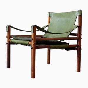 Poltrona Sirocco vintage verde de Arne Norell, 1964