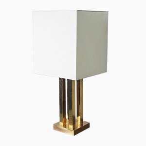 Large Italian Brass Table Lamp, 1970s