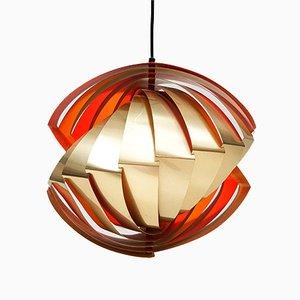 Lámpara colgante Conch de Louis Weisdorf para Lyfa, años 60