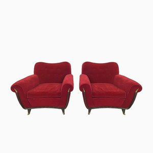 Italian Armchairs by Guglielmo Ulrich for Saffa, 1950s, Set of 2