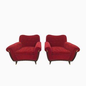 Italienische Sessel von Guglielmo Ulrich für Saffa, 1950er, 2er Set
