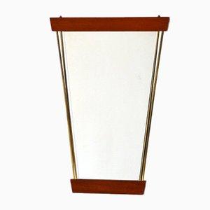 Vintage Spiegel mit Rahmen aus Teak & Messing