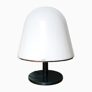 Large Mid Century Kuala White Table Lamp by Franco Bresciani for Guzzini, 1970s