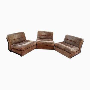 Mid Century Amanta Easy Chairs by Mario Bellini for B&B Italia, 1968, Set of 3