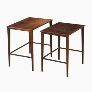 Mid-Century Scandinavian Nesting Table Set from Haslev Møbelsnedkeri, 1960s