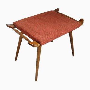 Taburete danés de teca tapizado, años 70