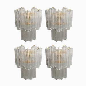 Apliques de pared Tronchi de cristal de Murano de Italian light design. Juego de 4