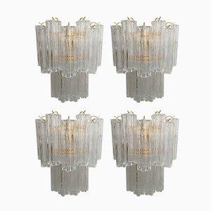 Tronchi Wandlampen aus Muranoglas von Italian light design, 4er Set