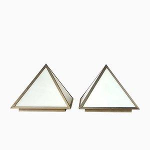 Lámparas de techo en forma de pirámide, años 60. Juego de 2