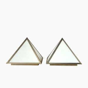 Pyramid Shaped Ceiling Lamps, 1960s, Set of 2