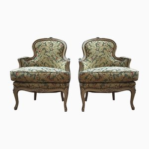 Butacas estilo Louis XV antiguas. Juego de 2