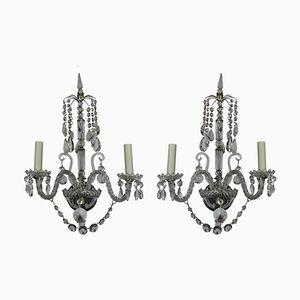 Antike englische Wandlampen, 1890er, 2er Set