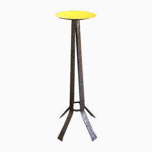 Brutalist Iron Candle Holder, 1960s