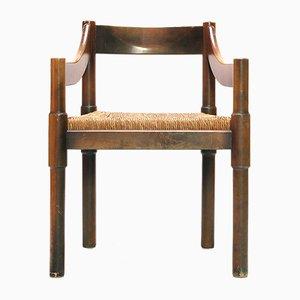 Chaise d'Appoint en Bois par Vico Magistretti pour Cassina, Italie, 1960s