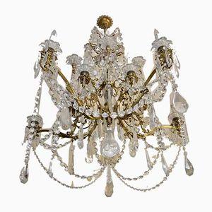 Vintage Kronleuchter aus Kristallglas