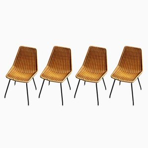 Vintage Dining Chairs by Dirk van Sliedregt for Rohé Noordwolde, Set of 4