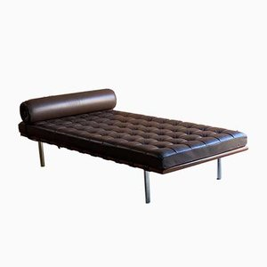 Leather Barcelona Couch by Mies Van Der Rohe for Knoll, 1990s