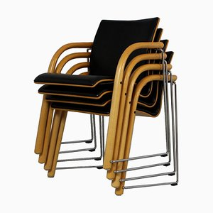 S320 Chairs by Wulf Schneider & Ulrich Böhme for Thonet, 1980s, Set of 4