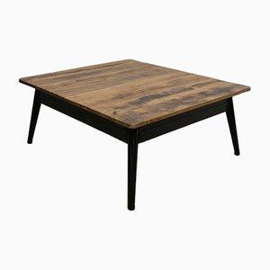 Table Basse Vintage avec Plateau en Chêne