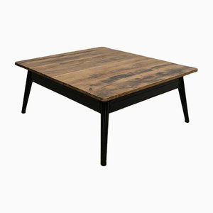 Vintage Coffee Table with Oak Top