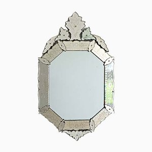 Antique Venetian Octagonal Cartouche Mirror