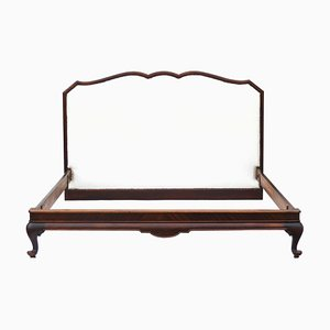 Large Vintage French Mahogany Bed, 1920s