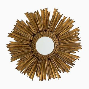 Vintage Double-Tier Sunburst Mirror, 1950s