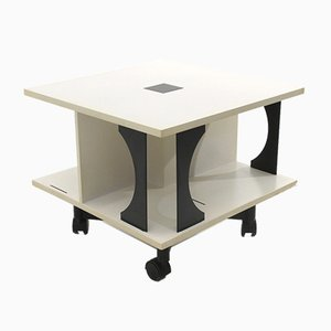 Italian Black & White Coffee Table by Anna Castelli Ferrieri for Kartell, 1980s