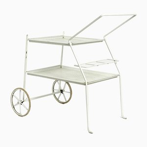 Mid-Century Italian Perforated Metal Serving Trolley