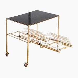 Tavolino in metallo dorato e formica, Francia, anni '60