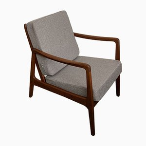Model FD109 Teak Lounge Chair by Ole Wanscher for France & Søn, 1960s