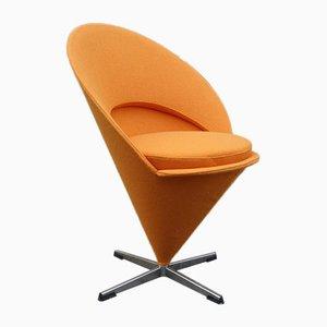 Kegelförmiger Mid-Century Sessel von Verner Panon, 1958