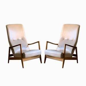 Ash Lounge Chairs by Gio Ponti for Cassina, 1958, Set of 2
