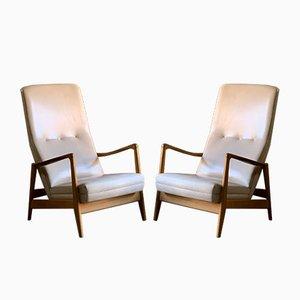Sessel mit Gestell aus Eschenholz von Gio Ponti für Cassina, 1958, 2er Set