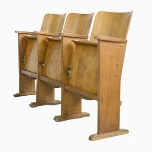Belgian Cinema Seats Bench, 1940s