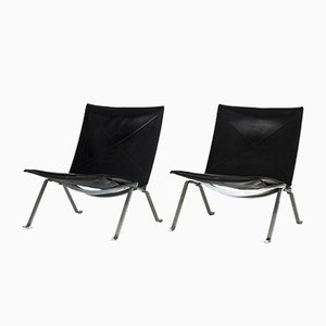 Vintage PK 22 Lounge Chairs by Poul Kjærholm for E. Kold Christensen, Set of 2