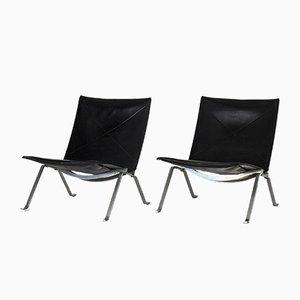 Vintage PK 22 Sessel von Poul Kjærholm für E. Kold Christensen, 2er Set