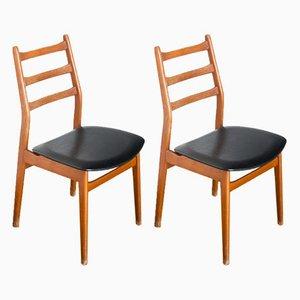 Französische Beistellstühle, 1960er, 2er Set