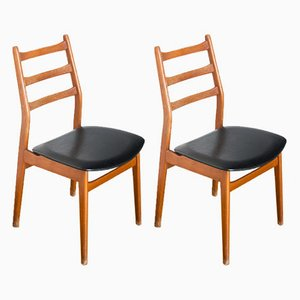 French Side Chairs, 1960s, Set of 2