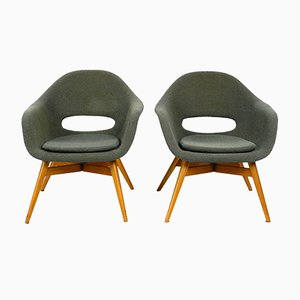 Fiberglass Lounge Chairs by Miroslav Navratil, 1960s, Set of 2