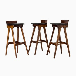 Vintage Bar Stools by Erik Buch, Set of 3