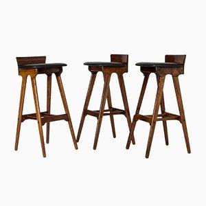Vintage Bar Stools by Erik Buch, Set of 3