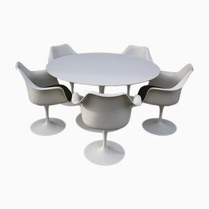 Tulip Dining Set by Eero Saarinen for Knoll & De Coene Kortrijk, 1980s, Set of 6